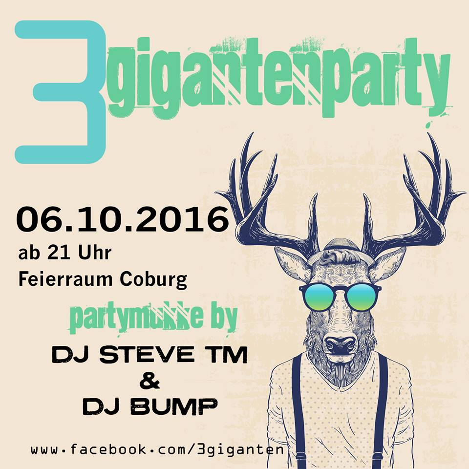 Flyer 3 Gigantenparty 06.10.2016